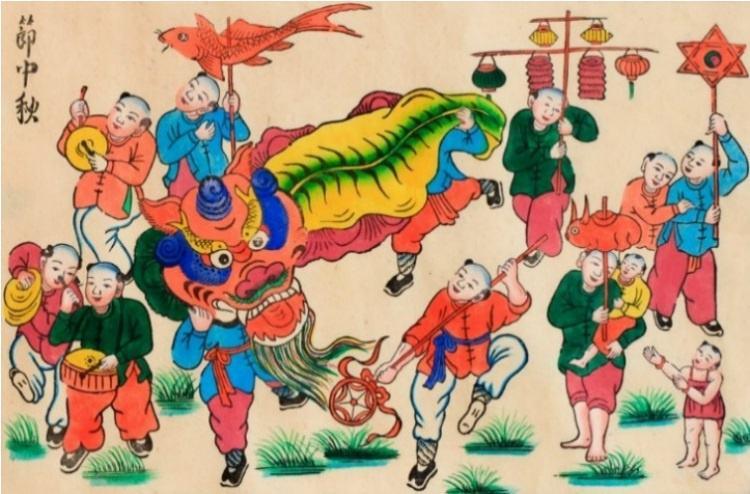 Da dang chu de trong tranh dan gian Hang Trong anh 3