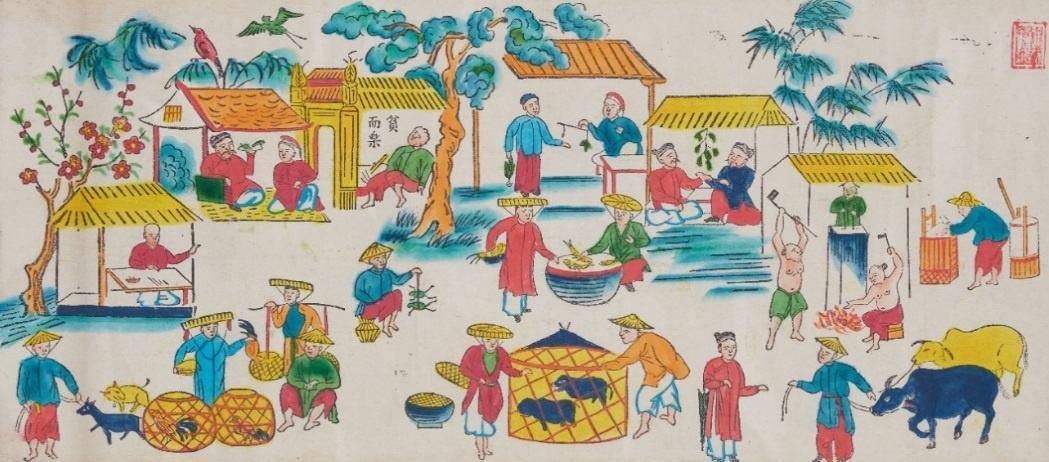 Da dang chu de trong tranh dan gian Hang Trong anh 4