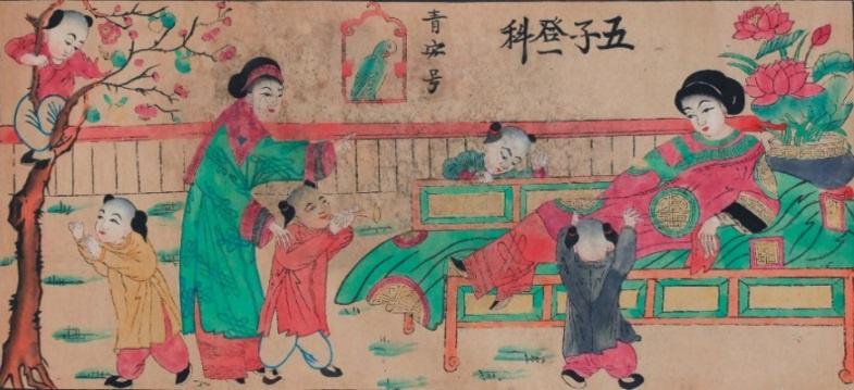 Da dang chu de trong tranh dan gian Hang Trong anh 7